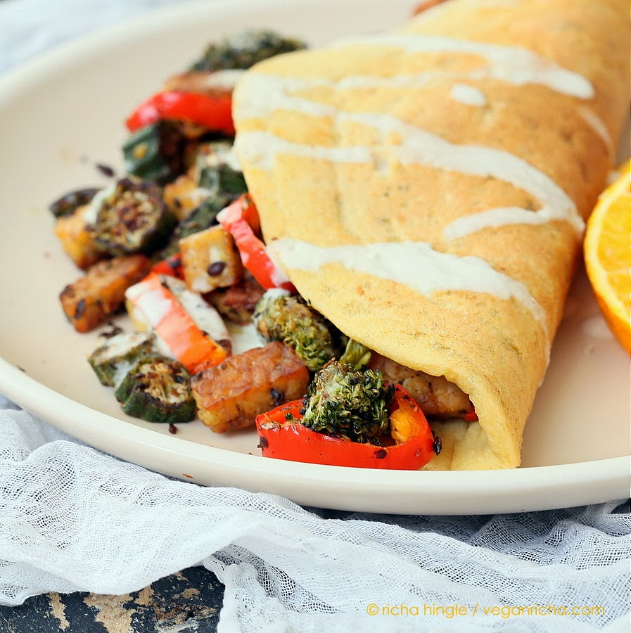 Lentil Omelette Dal Chilla | Vegan Richa