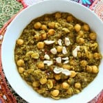 Chickpea Lentil Quinoa Spinach Stew. Vegan Glutenfree Recipe
