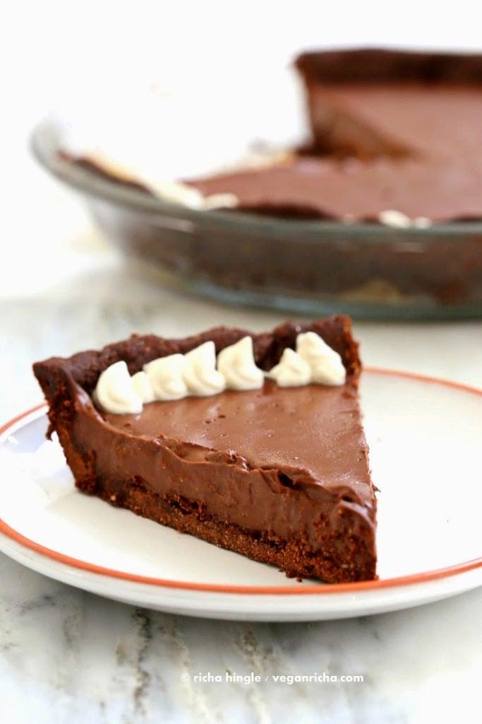 Vegan Chocolate Silk Pie | VeganRicha.com #vegan #glutenfree
