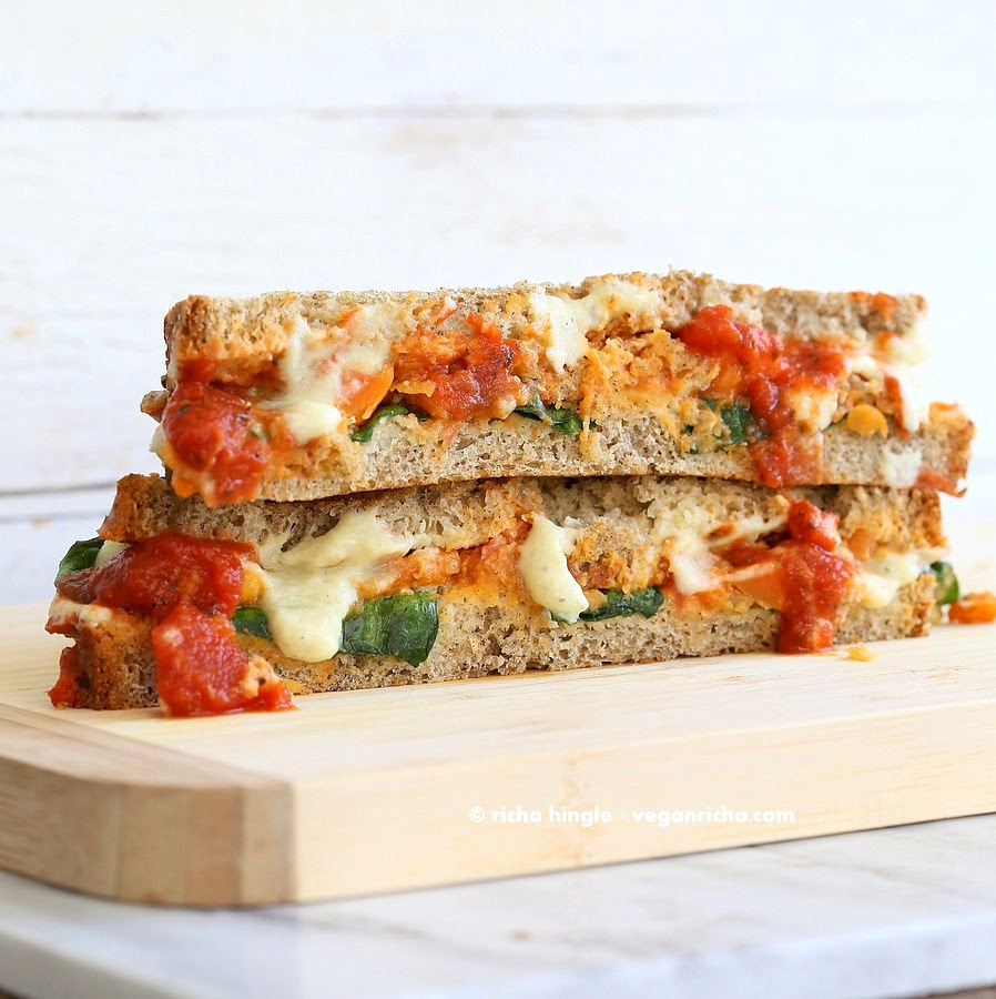 Lasagna Grilled Cheese. Nut-free Soy-free Vegan Recipe ...