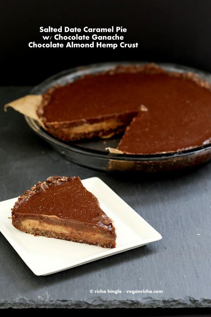 Vegan Salted Caramel Pie | Vegan Richa