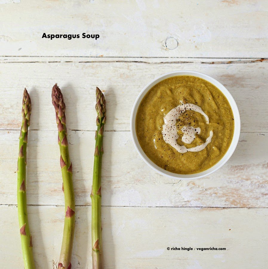 Roasted Asparagus Basil Soup | Healthy Vegan St. Patrick's Day Recipes You Can Make | vegan st patricks day recipes | vegetarian irish food