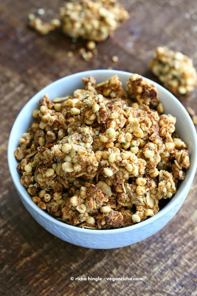 Sour Cream & Onion Hemp Millet Crunch Snack/Granola. Gluten-free Vegan ...