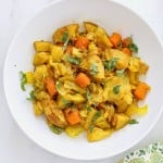 Atakilt Wat - Ethiopian Cabbage Potato Carrots. Easy spiced side full of amazing flavor. free of Dairy, egg, corn, soy, yeast, nut, gluten, grain. #glutenfree #veganricha #vegan