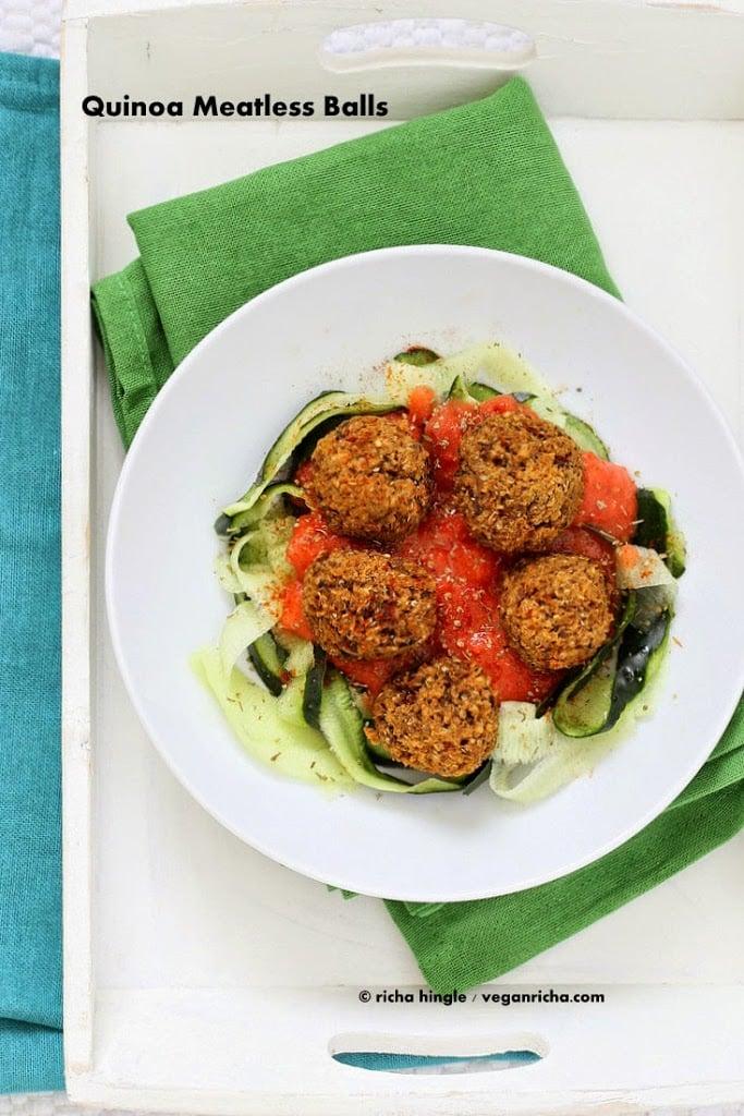 Quinoa Veggie Balls   Vegan Richa