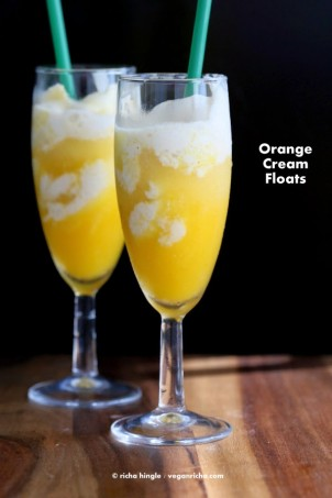 22 Vegan July 4th Recipes & Orange Cream Floats. Gluten-free Soy-free options