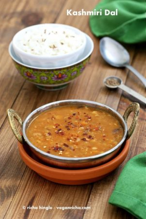Kashmiri Dal – Split Pea & Yellow Lentil Soup with Ginger and Spices. Vegan Glutenfree Recipe
