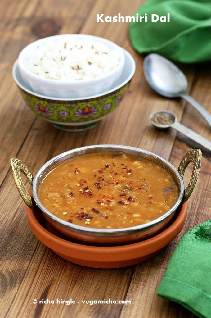 Kashmiri Dal - Split Pea & Yellow Lentil Soup with Ginger and Spices