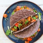 Smoky Lentil and Sweet Potato Tacos. Vegan Recipe