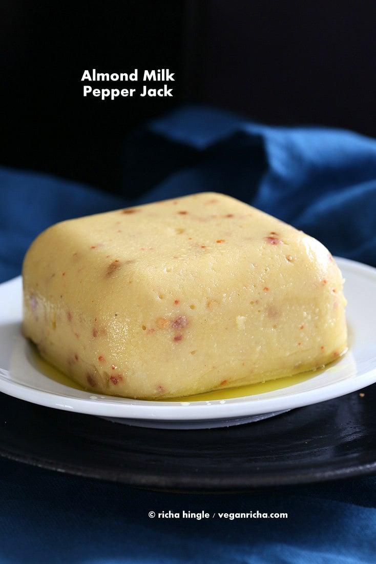 vegan pepper jack cheese with almond milk glutenfree recipe vegan richa. Black Bedroom Furniture Sets. Home Design Ideas