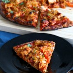 Vegan BBQ Tofu Pepper Jack Cheese Pizza