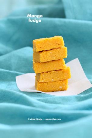 vegan mango fudge #glutenfree #veganricha #vegan