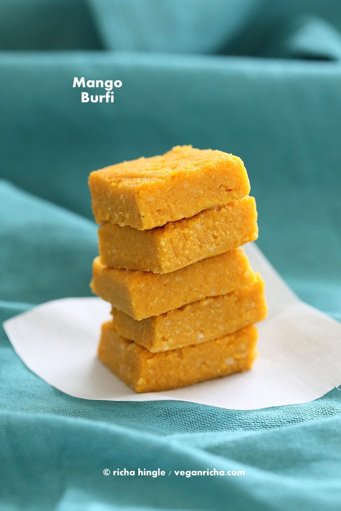 Vegan Indian Mango Burfi