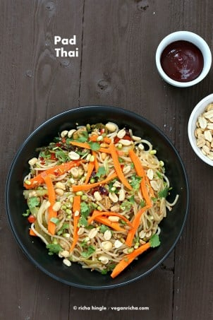 Vegan Pad Thai From Everyday Vegan Eats. Book Review.