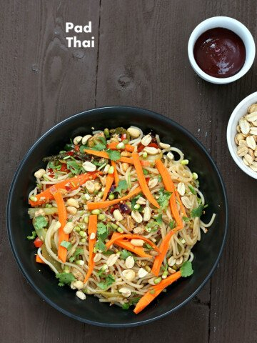 You don't have to go to Thailand to enjoy some great pad thai. Tamarind is a sour, tangy fruit that is used frequently in Indian and Thai cuisine. Check international aisles, Indian grocery stores, and other Asian grocers for tamarind or look for it on the Internet. #glutenfree #veganricha #vegan