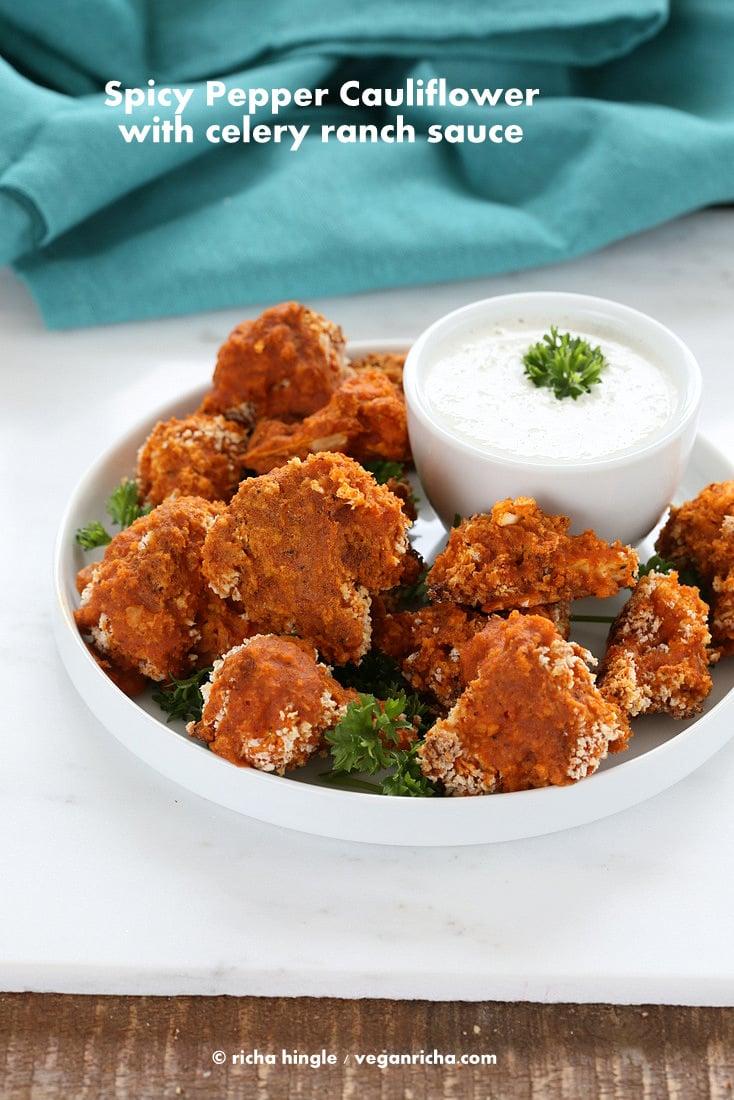 Spicy Baked Cauliflower Bites   Vegan Richa