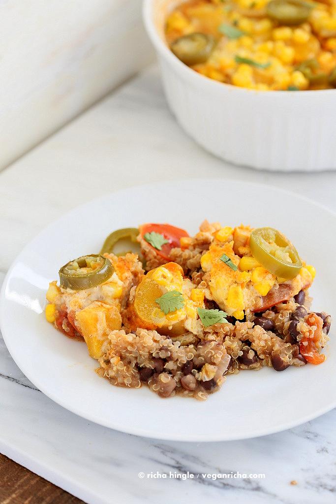 Quinoa Black Bean Casserole |Vegan Richa