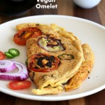 Vegan Omelet with Chickpea flour #glutenfree #veganricha #vegan