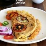 Vegan Omelet with Chickpea flour #glutenfree #veganricha #vegan
