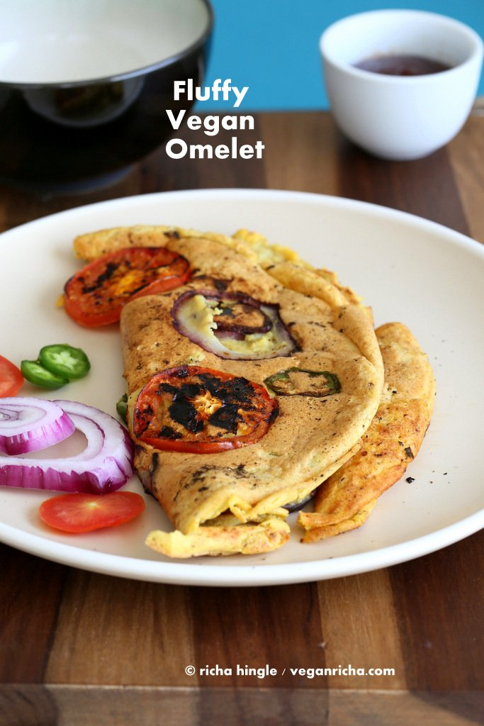 Vegan Omelet with Chickpea flour