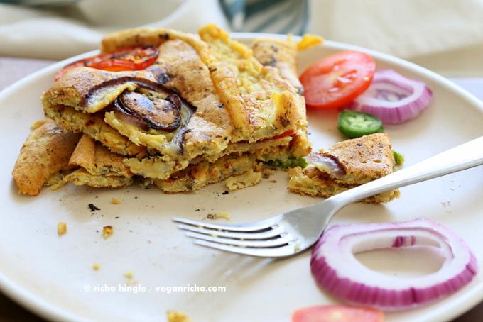 Chickpea Flour Vegan Omelet | Vegan Richa