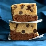 Vegan Cookie Dough Brownie Bars