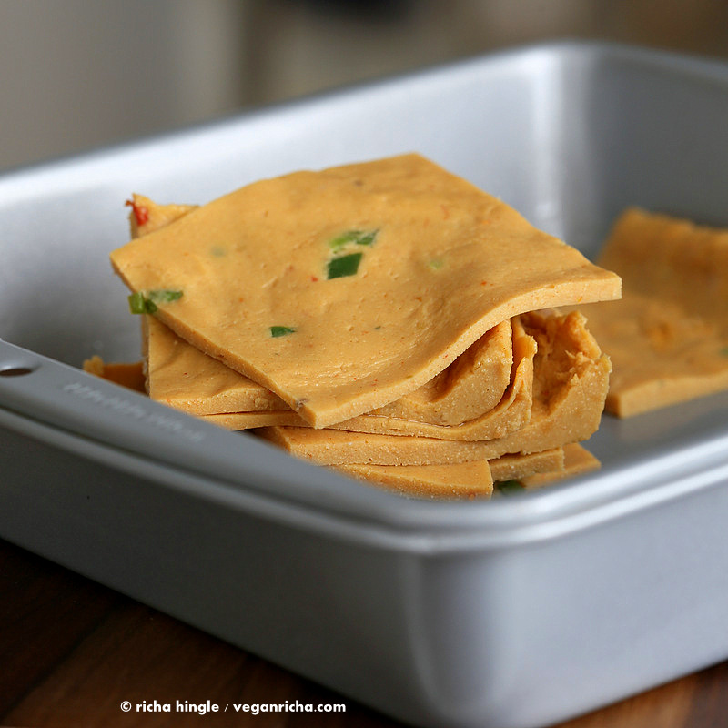 Vegan Nacho Cheese slices - nut-free