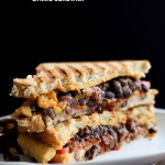 Smoky Black Bean Nacho Cheese Sandwich. Vegan Recipe