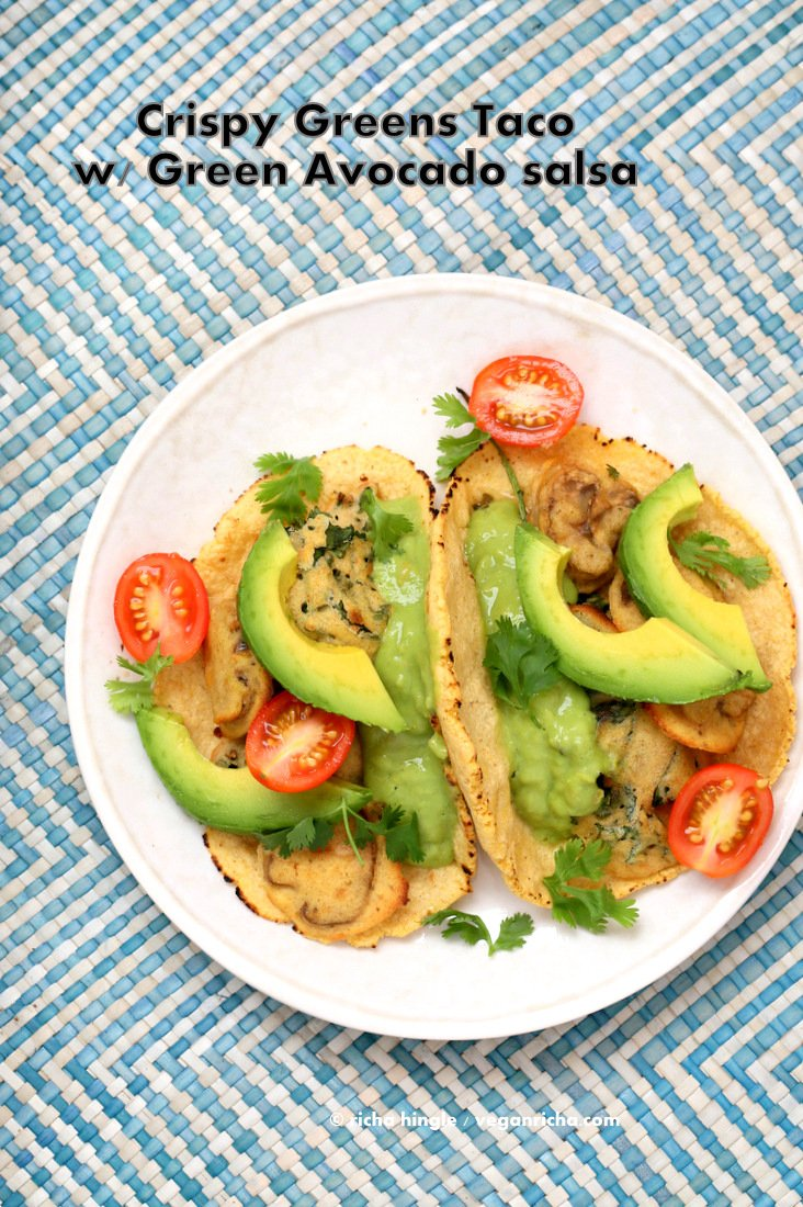 Crispy Greens Tacos