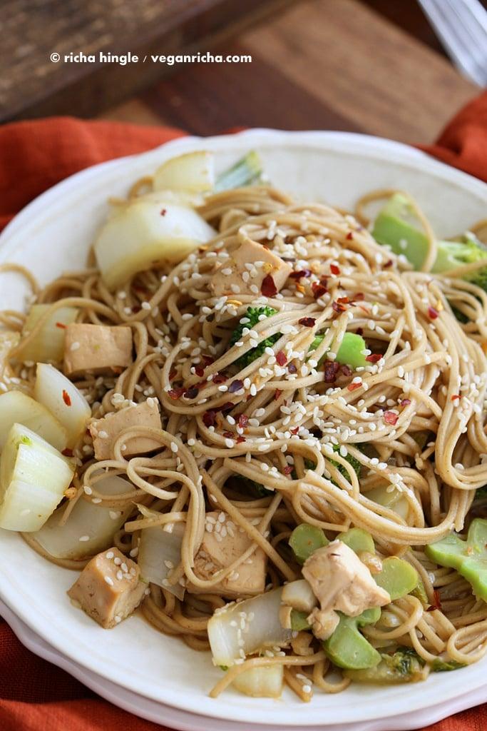 Tofu Broccoli Soba Stir fry  Vegan Richa
