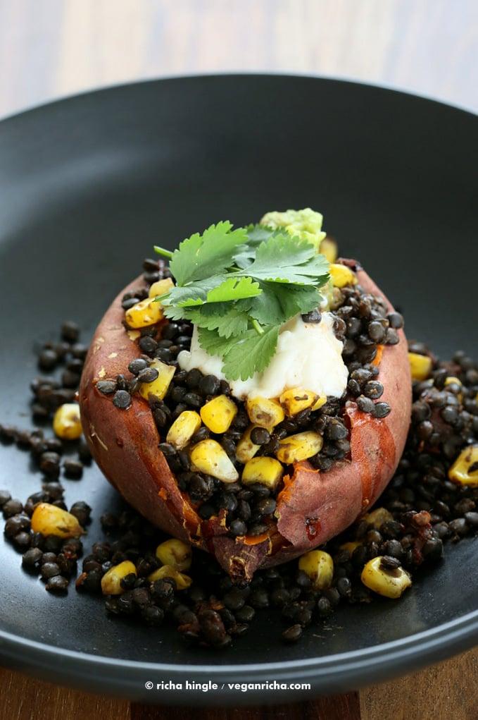 Lentil Stuffed Sweet Potatoes | Vegan Richa