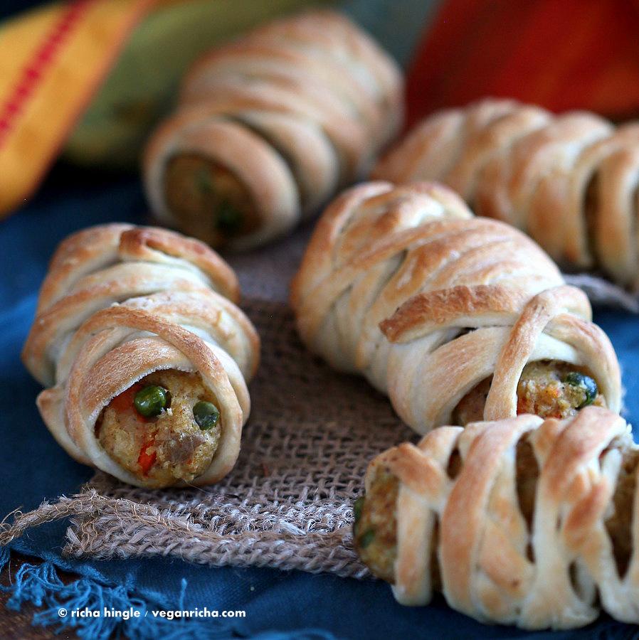 Vegan Mummy Dogs. Veggie Potato Masala Cutlets Recipe - Vegan Richa