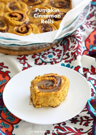 Vegan Pumpkin Cinnamon Rolls Recipe