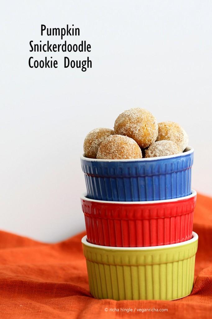 Pumpkin Snickerdoodle Cookie Dough | Vegan Richa