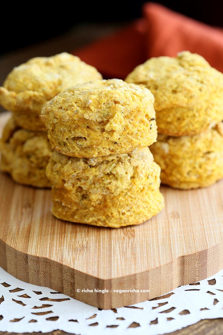 Vegan Pumpkin Biscuits   Vegan Richa