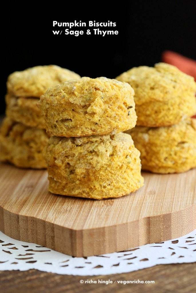 Vegan Pumpkin Biscuits | Vegan Richa