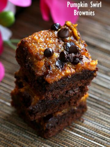 Vegan Pumpkin Brownies | Vegan Richa #vegan #glutenfree #veganricha
