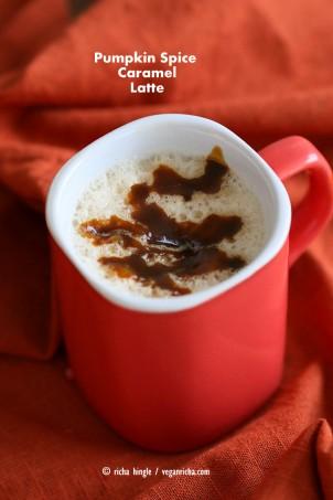Pumpkin Spice Caramel Latte | Vegan Richa #vegan #glutenfree #veganricha