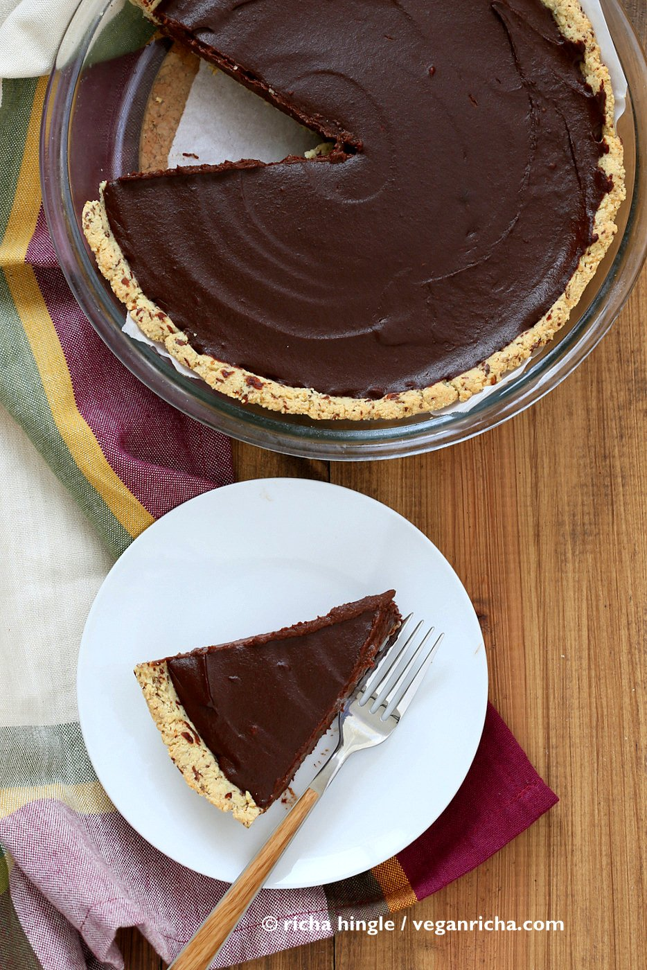Vegan Chocolate Pumpkin Pie | Vegan Richa