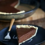 Vegan Chocolate Pumpkin Pie with Almond Crust