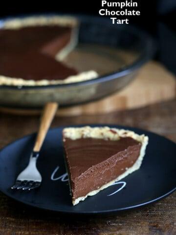 Vegan Chocolate Pumpkin Pie   Vegan Richa #vegan #glutenfree #veganricha