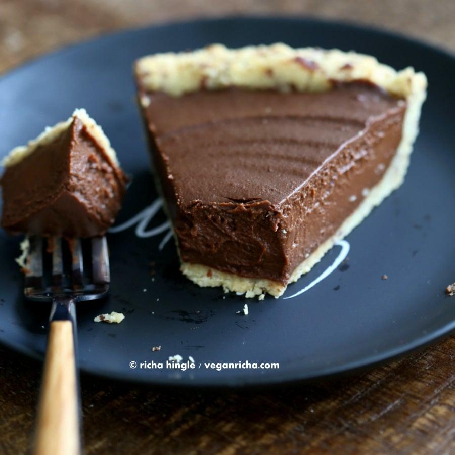 Vegan Chocolate Pumpkin Pie | Vegan Richa