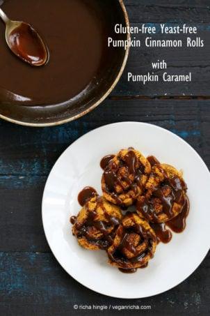 Gluten free Yeast free Pumpkin Cinnamon Rolls