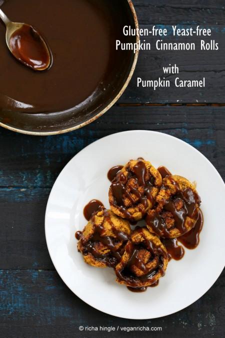 Gluten-free Pumpkin Cinnamon Rolls | Vegan Richa #vegan #glutenfree #veganricha