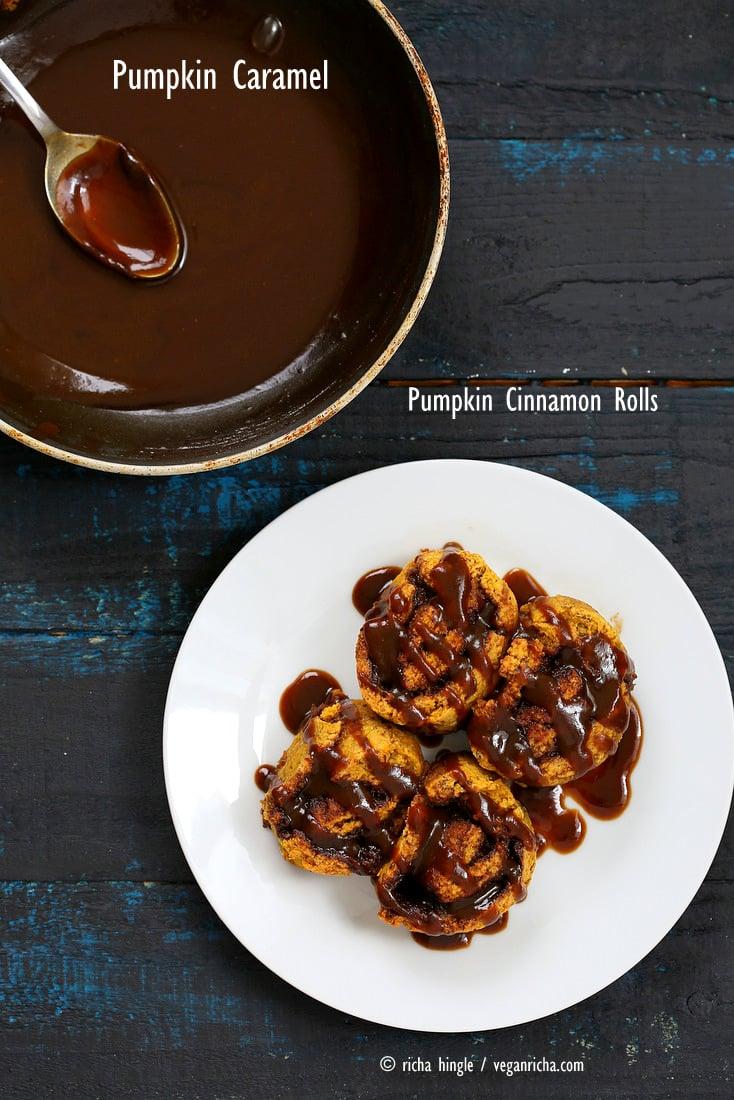 Gluten-free Pumpkin Cinnamon Rolls | Vegan Richa