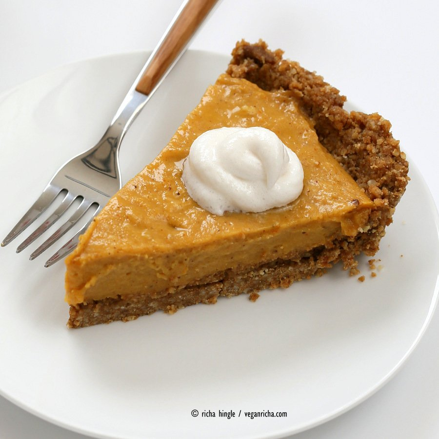 No Bake Vegan Pumpkin Pie | Vegan Richa