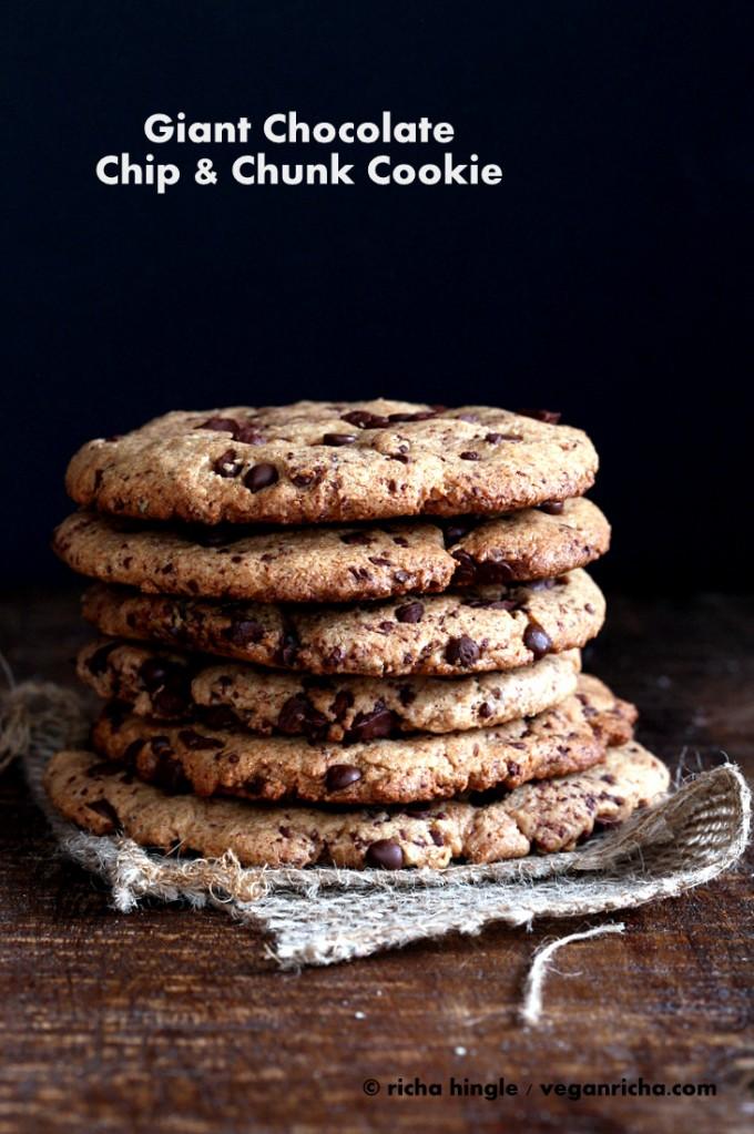 Giant Chocolate Chip Cookies  Vegan Richa