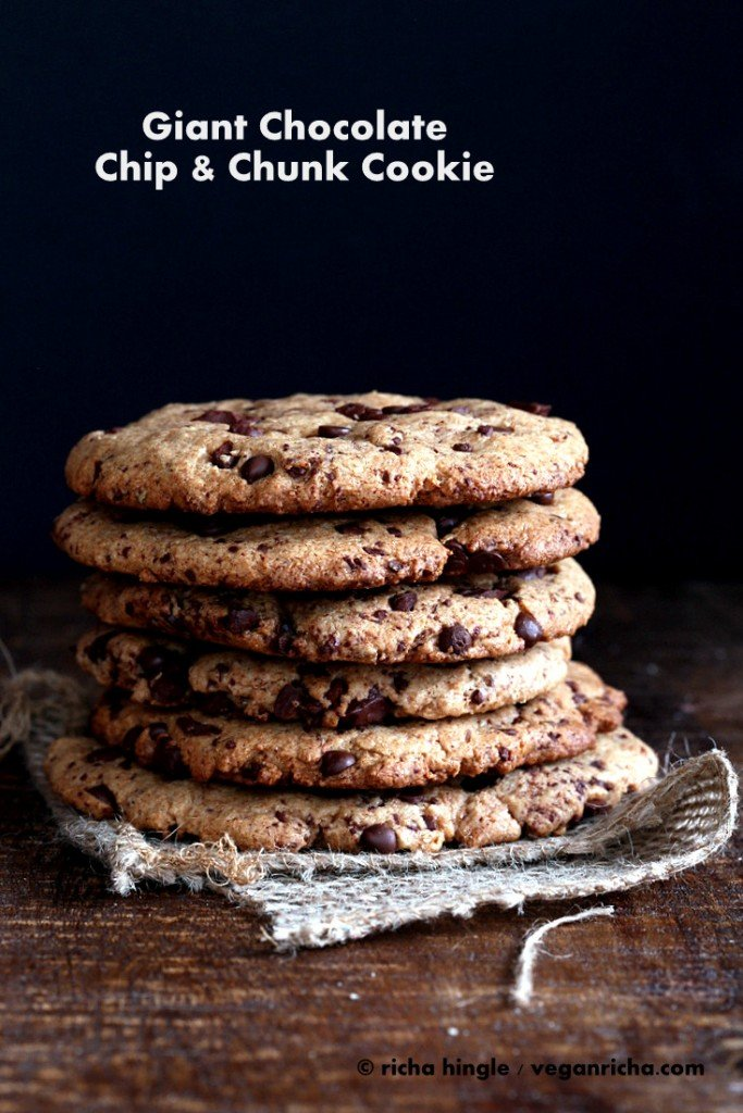 Giant Chocolate Chip Cookies |Vegan Richa