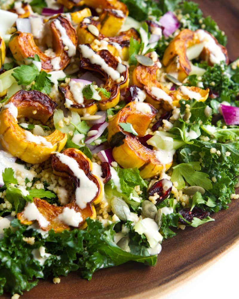 ... butternut squash salad and i am so ready quinoa salad with kale and