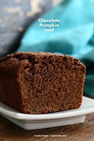 Vegan Chocolate Pumpkin Cake | Vegan Richa #vegan #glutenfree #veganricha